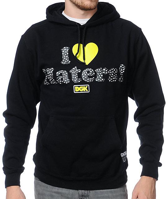 DGK Safari I Heart Haters Black Pullover Hoodie