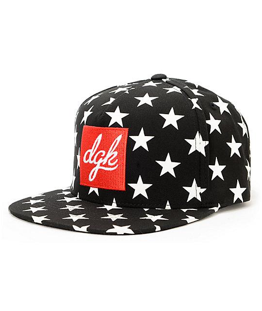 DGK Shooter Black Strapback Hat
