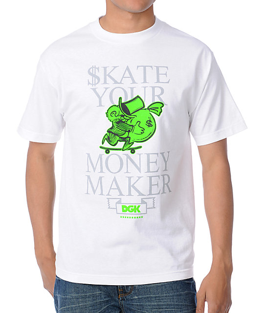 DGK Skate Your Money Maker White T-Shirt