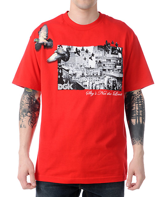 DGK Skys Not The Limit Red T-Shirt