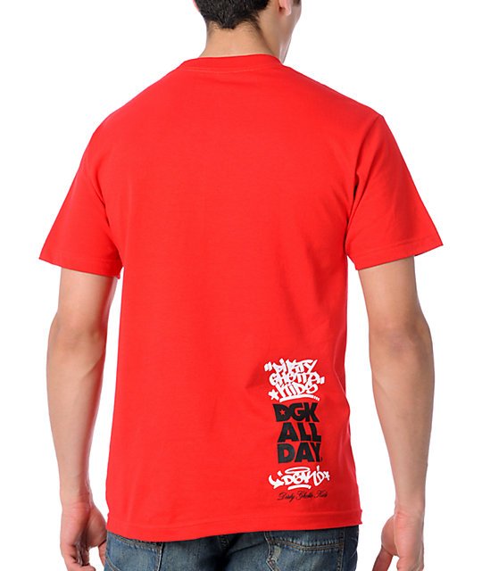 DGK Smiley Red T-Shirt