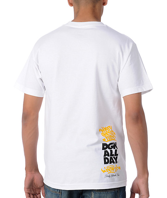DGK Smiley White T-Shirt
