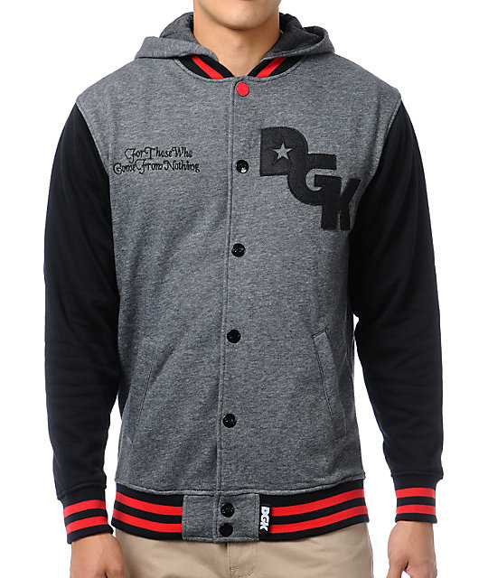 DGK Stagger Grey & Black Varsity Jacket