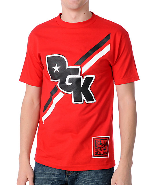 DGK Stagger Red T-Shirt