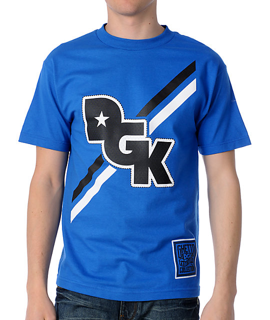 DGK Stagger Royal Blue T-Shirt