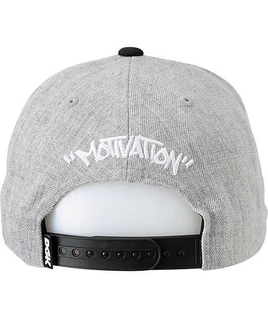 DGK Tag I Love Haters Grey Wool Snapback Hat