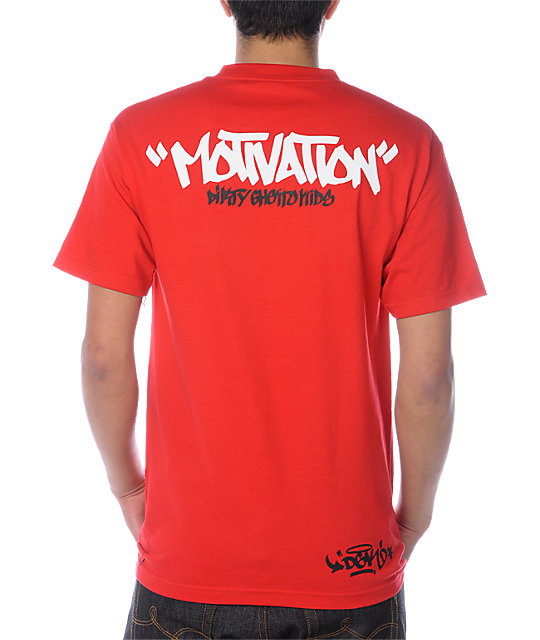 DGK Tag Motivation Red T-Shirt