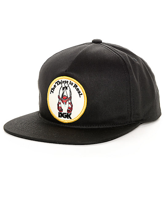 DGK Thirst Black Snapback Hat