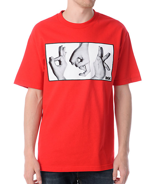 DGK Throw It Up Red T-Shirt