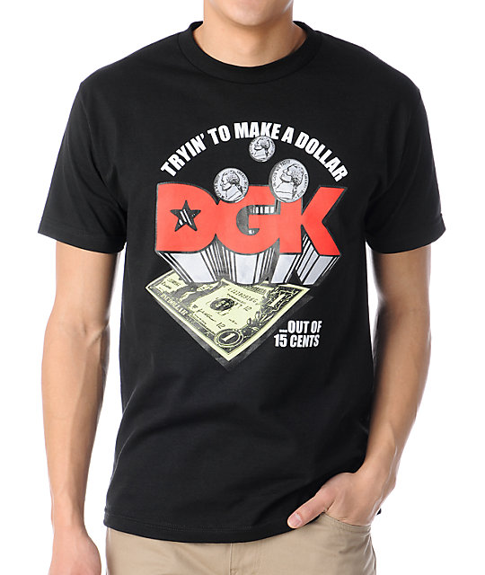 DGK Trying To Make A Dollar Black T-Shirt