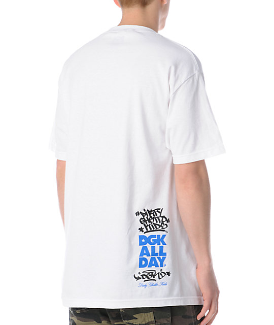 DGK Trying To Make A Dollar White T-Shirt