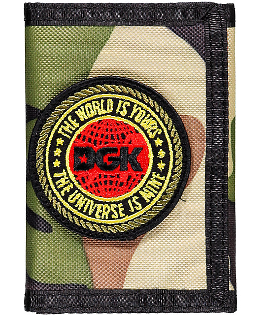 DGK Universe Camo Tri-fold Wallet