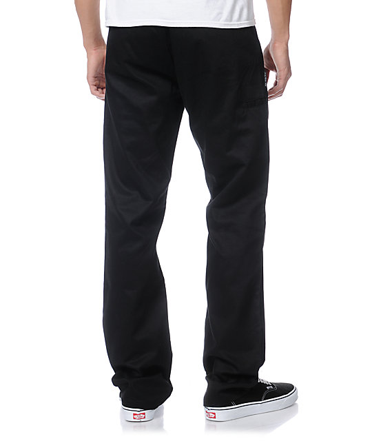 DGK Working Man 2 Black Straight Fit Chino Pants