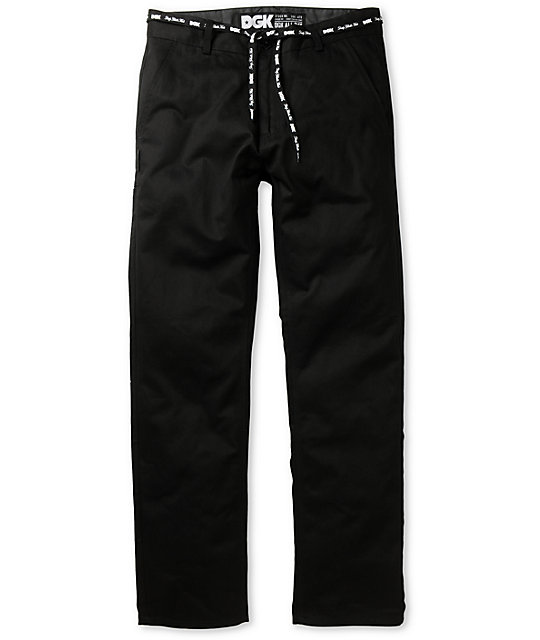 DGK Working Man 2 Black Straight Fit Chino Pants