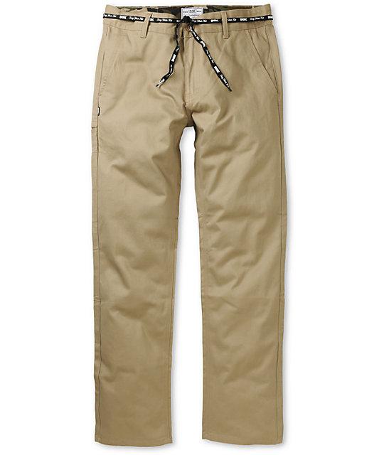 DGK Working Man 3 Khaki Chino Regular Fit Chino Pants
