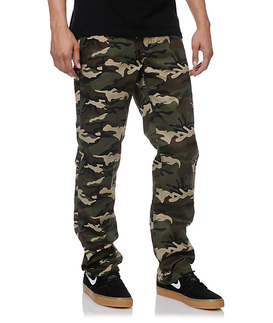 DGK Working Man Camo Regular Fit Chino Pants