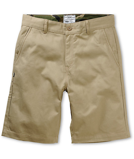 Working Man Dark Khaki Chino Shorts
