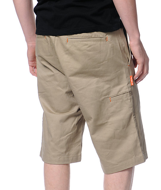 DGK Working Man Khaki Regular Fit Chino Shorts