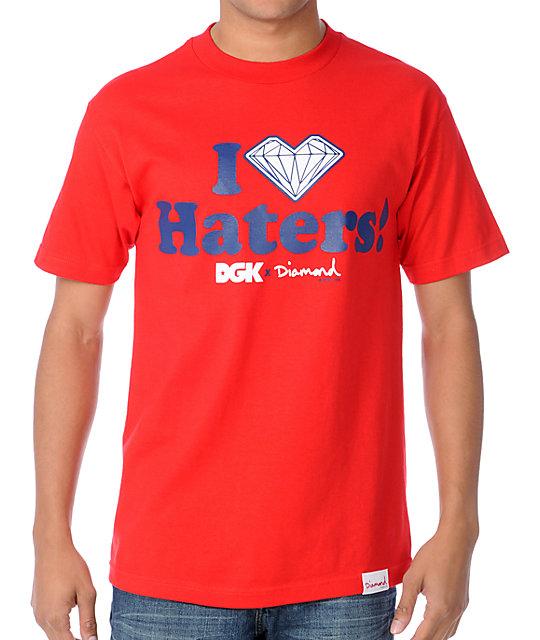 DGK x Diamond I Love Haters Red T-Shirt