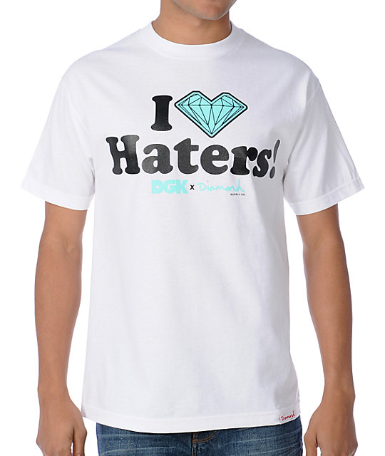 DGK x Diamond I Love Haters White T-Shirt