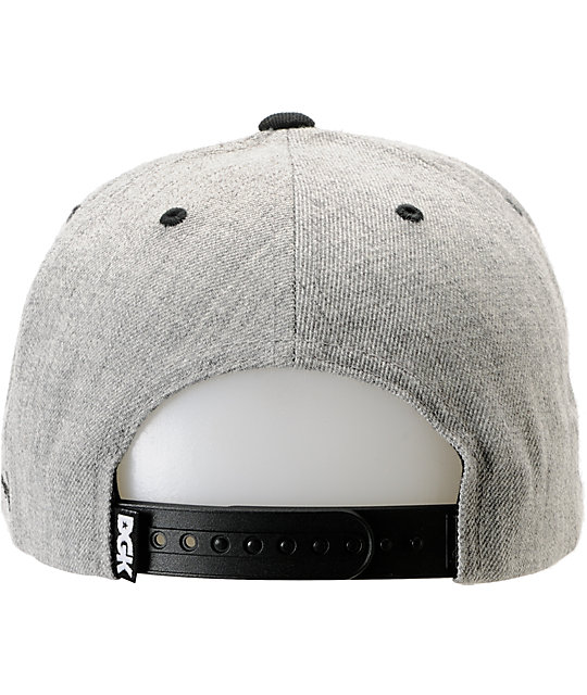 DGK x Diamond Supply Co. I Heart Haters Grey Snapback Hat