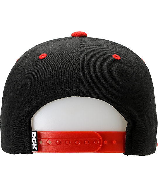 DGK x Diamond Supply Co. I Heart Haters Red Snapback Hat