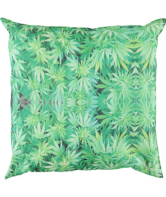 DNA Weed Leaf Throw Pillow