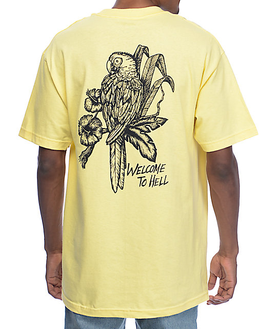 DROPOUT CLUB INTL. Brad Walters Welcome To Hell Yellow T-Shirt
