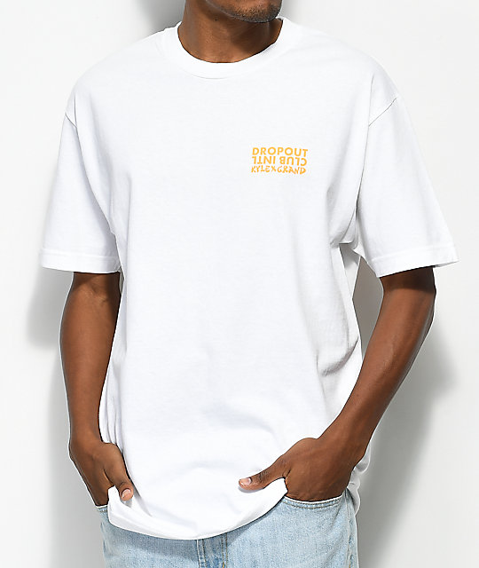 DROPOUT CLUB INTL. x Kyle Grand Gone To Soon White T-Shirt