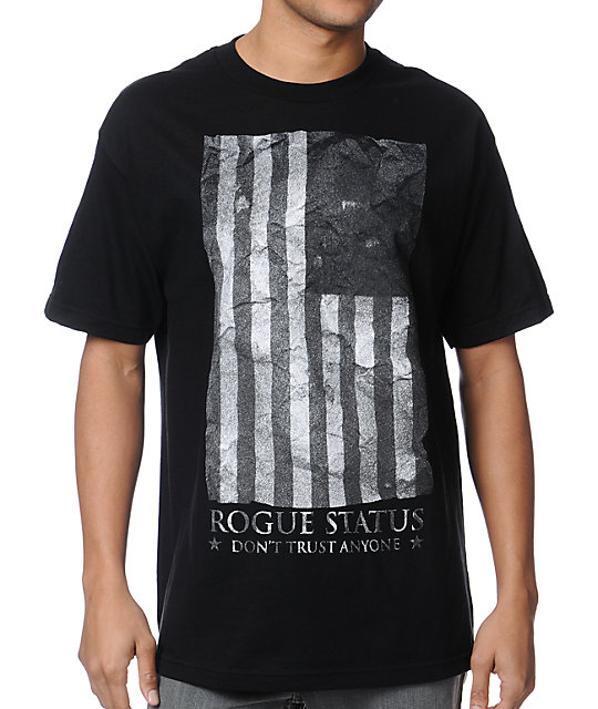 DTA Black Flag Black T-Shirt