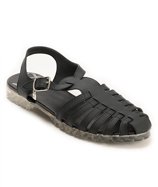 DV8 Dantri Black Jelly Sandals
