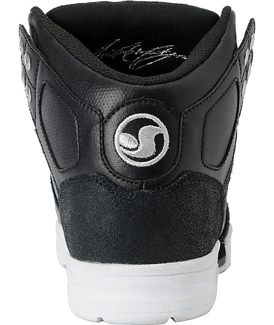 DVS Aces High Boot Black & White Shoes