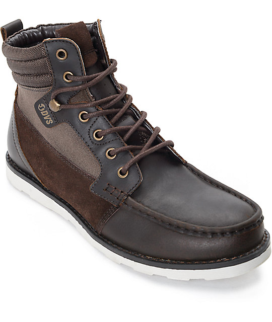 DVS Bishop Brown Leather Boots