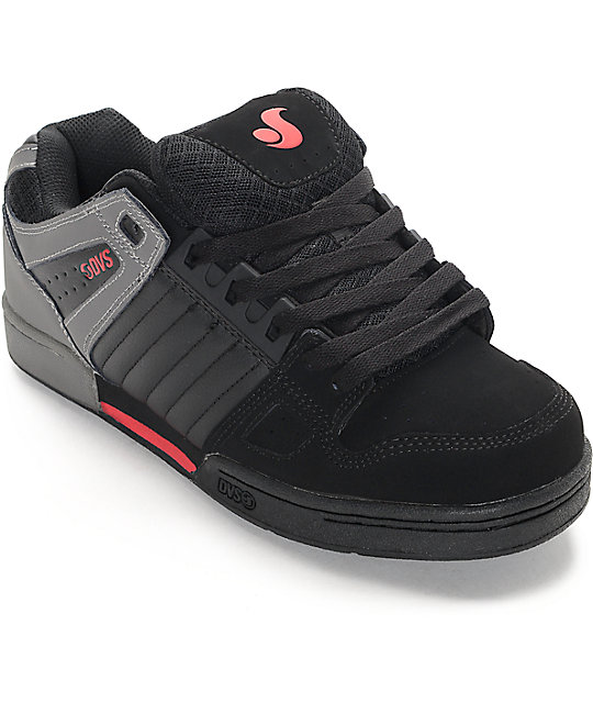 DVS Celsius Black, Grey & Red Skate Shoes