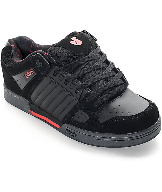 DVS Celsius Deegan Black, Grey, & Red Skate Shoes