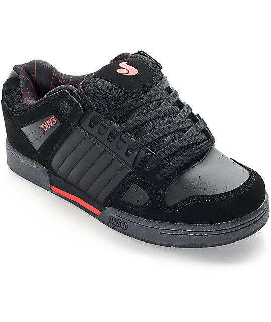 DVS Celsius Deegan Black, Grey, & Red Skate Shoes