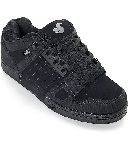 dvs celsius all black skate shoes zumiez