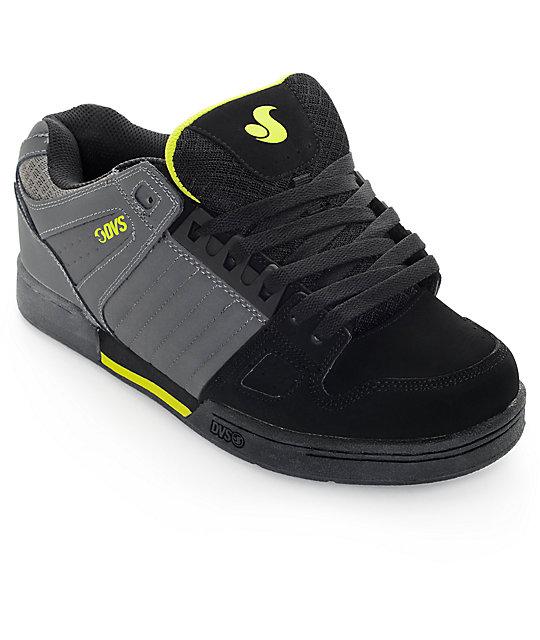 DVS Celsius Grey, Black & Lime Skate Shoes