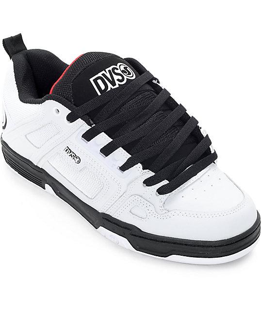 DVS Comanche White, Black & Red Skate Shoes