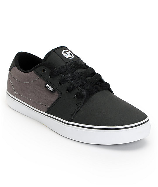 DVS Convict Black & Grey Suede Low Top Skate Shoes