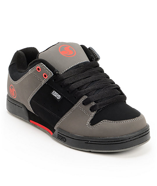 DVS Defy Grey, Red, & Black Skate Shoes
