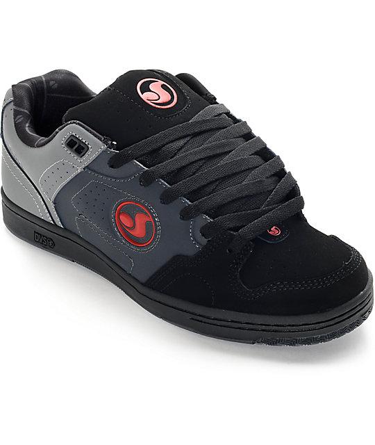 DVS Discord Deegan Grey, Black, & Red Skate Shoes