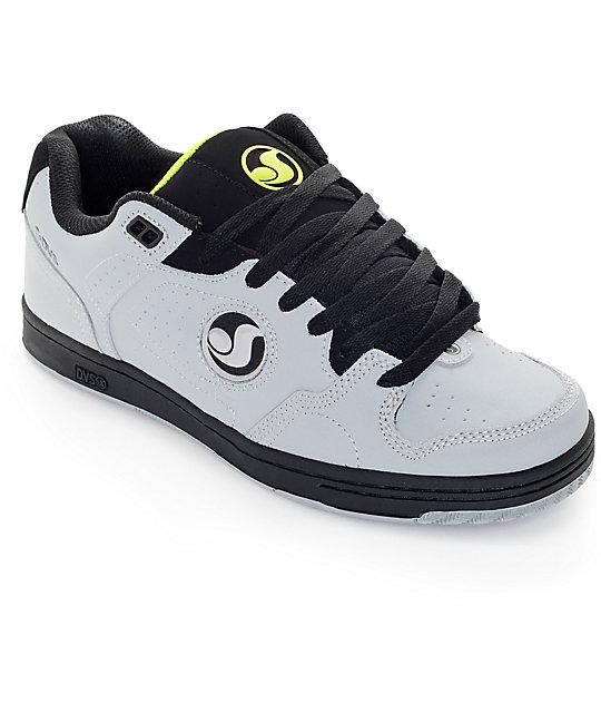 DVS Discord Grey, Black & Lime Skate Shoes