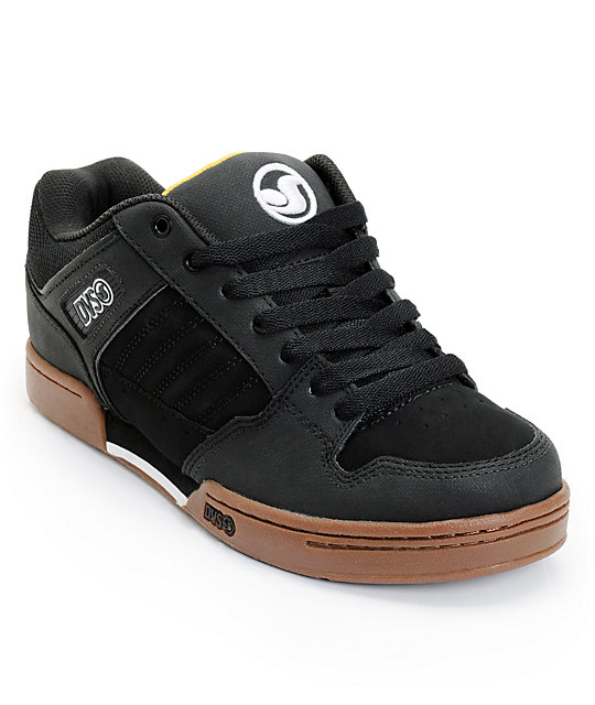 DVS Durham Black & Gum Skate Shoes