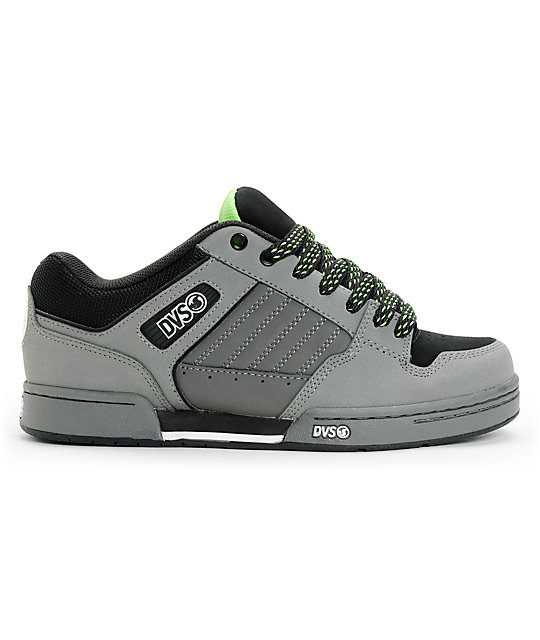 DVS Durham Grey Nubuck Skate Shoes