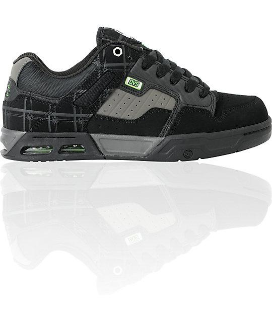 DVS Enduro Heir Black & Grey Nubuck Skate Shoes