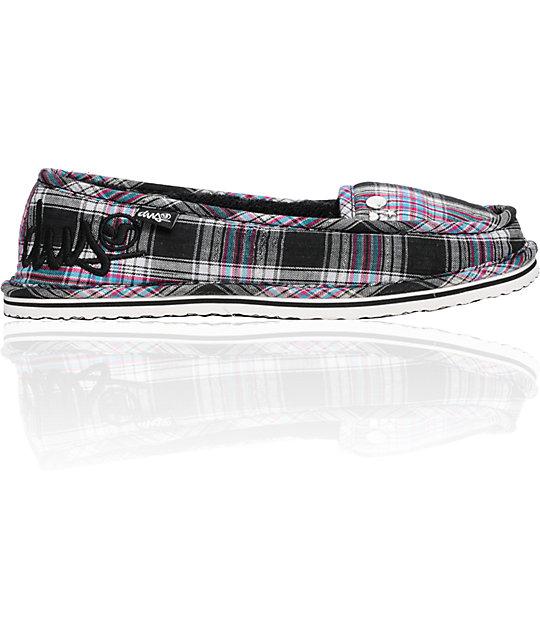 DVS Francisco Black Plaid Slippers
