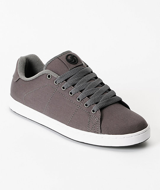 DVS Gavin 2 Grey Canvas Skate Shoes