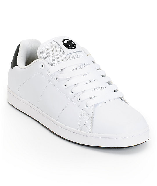 DVS Gavin 2 White Leather Skate Shoes