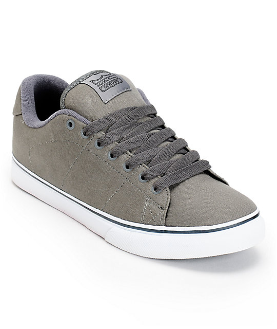DVS Gavin CT Grey Canvas Skate Shoes